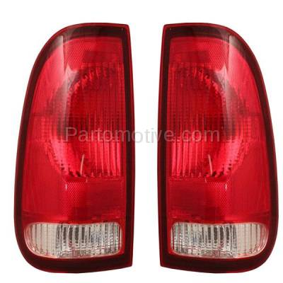 Aftermarket Auto Parts - TLT-1482LC & TLT-1482RC CAPA Ford F-Series Truck Taillight Taillamp Brake Light Lamp Left Right Set PAIR - Image 1