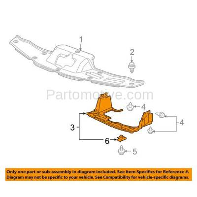 Aftermarket Replacement - ESS-1255 09-13 FIT Front Engine Splash Shield Under Cover Undercar HO1228125 74111TK6A00 - Image 3