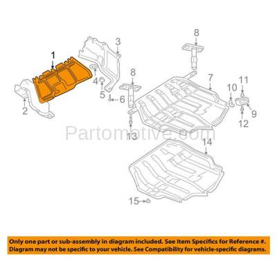 Aftermarket Replacement - ESS-1660 99-06 VW Golf & 06-10 GTI Engine Splash Shield Under Cover VW1228101 1J0825237R - Image 3
