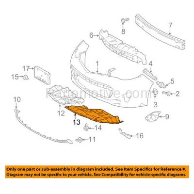 Aftermarket Replacement - ESS-1594L 13-15 Avalon Front Engine Splash Shield Under Cover Left Driver Side 5144207030 - Image 3
