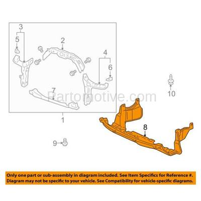 Aftermarket Replacement - ESS-1267 07-09 CRV Front Engine Splash Shield Under Cover Undercar HO1228106 74111SWAA00 - Image 3