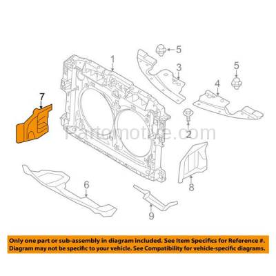 Aftermarket Replacement - ESS-1531R 2009-2014 Nissan Murano & 2011-2017 Quest Van Front Outer Engine Under Cover Splash Shield Undercar Guard Plastic Right Passenger Side - Image 3