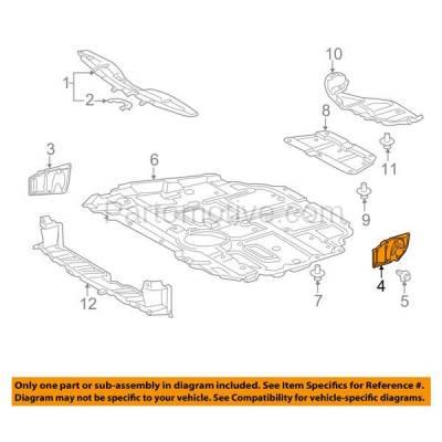 Aftermarket Replacement - ESS-1554L 2008-2018 Lexus CT200h, HS250h & Scion iM, tC, xB & Toyota Corolla iM, Prius/V Front Outer Engine Splash Shield Left Driver Side - Image 3