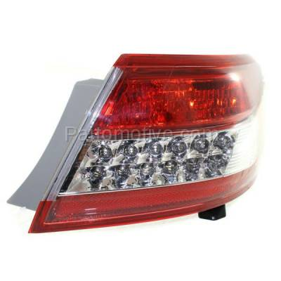 Aftermarket Auto Parts - TLT-1619RC CAPA 10-11 Camry Taillight Taillamp Rear Brake Outer Light Lamp Passenger Side - Image 2