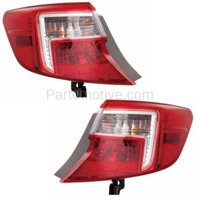 Aftermarket Auto Parts - TLT-1658LC & TLT-1658RC CAPA 12-13 Camry & Hybrid Taillight Taillamp Rear Light Lamp Left Right Set PAIR - Image 1