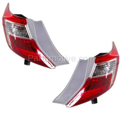 Aftermarket Auto Parts - TLT-1658LC & TLT-1658RC CAPA 12-13 Camry & Hybrid Taillight Taillamp Rear Light Lamp Left Right Set PAIR - Image 2