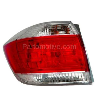 Aftermarket Auto Parts - TLT-1647LC CAPA 11-13 Highlander Taillight Taillamp Rear Brake Light Lamp Driver Side LH L - Image 1