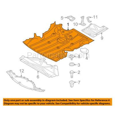 Aftermarket Replacement - ESS-1070 06-13 3-Series Front Engine Splash Shield Under Cover w/Aluminum Pad 51757129341 - Image 3