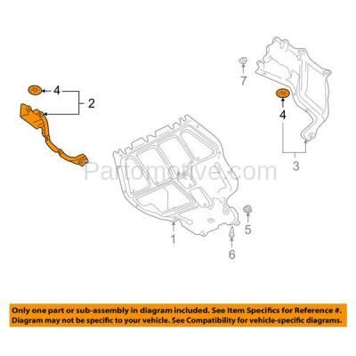 Aftermarket Replacement - ESS-1663 00-02 VW Jetta Engine Splash Shield Drive Belt Under Cover VW1228103 1J0825250G - Image 3