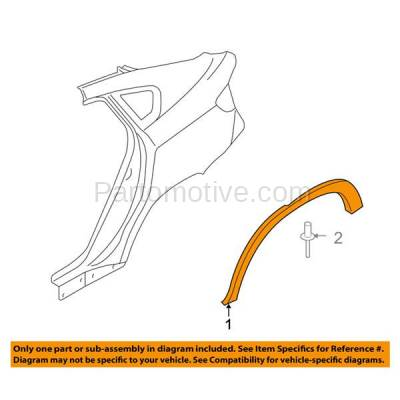 Aftermarket Replacement - FDT-1003R 08-14 X6 Rear Fender Panel Molding Moulding Trim Right Passenger Side BM1791103 - Image 3