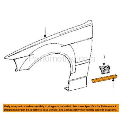 Aftermarket Replacement - FDT-1015R 92-99 3-Series Front Fender Molding Moulding Trim Right Passenger Side BM1293101 - Image 3