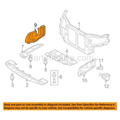 Aftermarket Replacement - ESS-1315R Engine Splash Shield Under Cover Fits 07-12 Elantra RH Passenger Side HY1228117 - Image 3