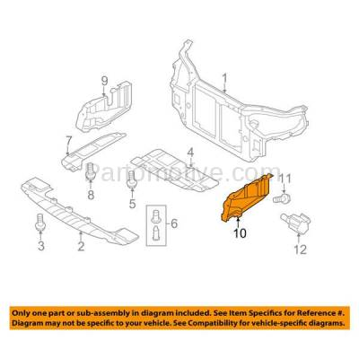Aftermarket Replacement - ESS-1315L Engine Splash Shield Under Cover Fits 07-12 Elantra Left Driver Side HY1228118 - Image 3