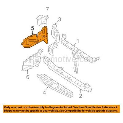 Aftermarket Replacement - ESS-1316R Engine Splash Shield Under Cover For 01-06 Elantra/03-08 Tiburon Passenger Side - Image 3