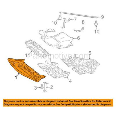 Aftermarket Replacement - ESS-1476 10-13 E-Class Sedan Front Engine Splash Shield Under Cover Skid Plate 2125240230 - Image 3