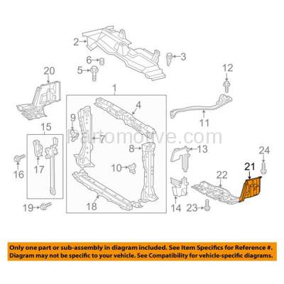 Aftermarket Replacement - ESS-1586L 12-15 Prius C Front Engine Splash Shield Under Cover Guard Driver Side TO1228208 - Image 3