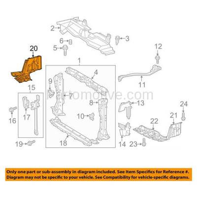 Aftermarket Replacement - ESS-1586R 12-15 Prius C Front Engine Splash Shield Under Cover Guard Right Side TO1228207 - Image 3