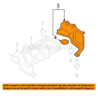 Aftermarket Replacement - ESS-1652L 06-10 Beetle 2.5L Front Engine Splash Shield Under Cover Driver Side VW1228130 - Image 3