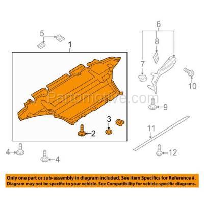 Aftermarket Replacement - ESS-1014 NEW 09-12 Q5 Engine Splash Shield Under Cover Front Plastic AU1228126 8R0863821C - Image 3