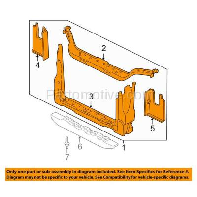 Aftermarket Replacement - RSP-1329 1999-2009 Chevy Uplander/Pontiac Montana/Trans Sport & 1997-2005 Venture/Silhouette & 2005-2007 Buick Terraza/Saturn Relay Front Center Radiator Support - Image 3