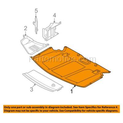 Aftermarket Replacement - ESS-1068 06-07 5-Series V6 Center Engine Splash Shield Under Cover BM1228128 51757138601 - Image 3