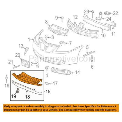 Aftermarket Replacement - ESS-1235 05-09 G6 Front Engine Splash Shield Under Cover Undercar GM1228104 25995433 NEW - Image 3