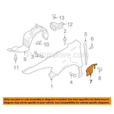 Aftermarket Replacement - ESS-1423R 09-13 Mazda6 Front Engine Splash Shield Under Cover RH Passenger Side GS3L56341A - Image 3