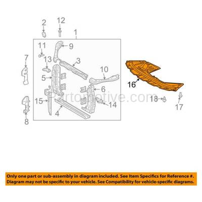 Aftermarket Replacement - ESS-1629 04 05 06 Sienna 3.3L Front Engine Splash Shield Under Cover TO1228145 5144108010 - Image 3