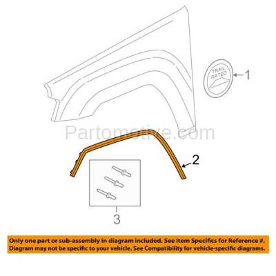 Aftermarket Replacement - FDF-1013L 11-16 Grand Cherokee Front Fender Flare Wheel Opening Molding Trim Driver Side - Image 3