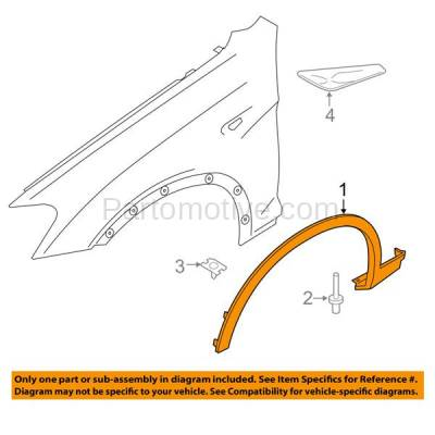 Aftermarket Replacement - FDF-1003R 11-17 X3/X4 Front Fender Flare Wheel Opening Molding Trim Right Passenger Side - Image 3