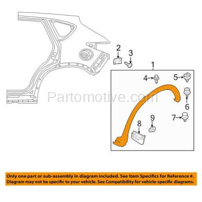 Aftermarket Replacement - FDF-1050R 13-16 CX5 Rear Fender Flare Wheel Opening Molding Trim Passenger Side MA1791100 - Image 3