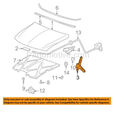 Aftermarket Replacement - HDH-1068L 2000-2006 Cadillac Escalade & Chevy Avalanche/Suburban/Tahoe/Yukon XL & 1999-2007 Silverado/Sierra Hood Hinge Assist Spring Driver Side - Image 3