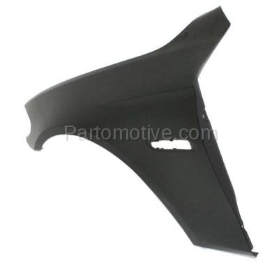 Aftermarket Replacement - FDR-1026LC CAPA 2011-2016 BMW 5-Series (Sedan 4-Door) Front Fender Quarter Panel (with Molding Holes) Primed Aluminum Left Driver Side - Image 2