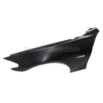 Aftermarket Replacement - FDR-1026LC CAPA 2011-2016 BMW 5-Series (Sedan 4-Door) Front Fender Quarter Panel (with Molding Holes) Primed Aluminum Left Driver Side - Image 3