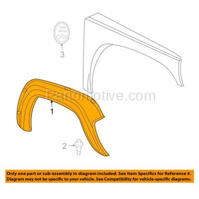 Aftermarket Replacement - FDF-1029R 02-04 Liberty Front Fender Flare Wheel Opening Molding Trim Right Passenger Side - Image 3