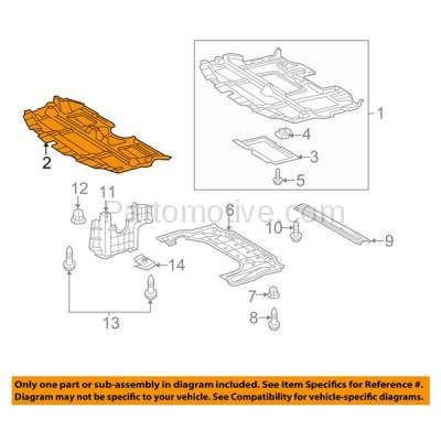 Aftermarket Replacement - ESS-1376 09-10 IS-250/350 AWD Front Engine Splash Shield Under Cover LX1228142 5141053100 - Image 3