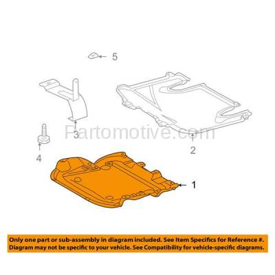 Aftermarket Replacement - ESS-1470 01-07 C-Class Front Engine Splash Shield Under Cover Guard MB1228106 2035243230 - Image 3