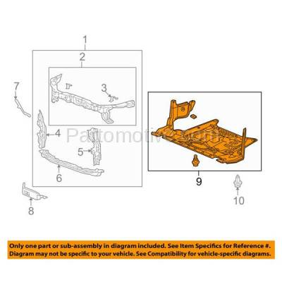 Aftermarket Replacement - ESS-1001 10-14 TSX 4DR-Sedan Engine Lower Splash Shield Under Cover AC1228111 74111TP1A00 - Image 2