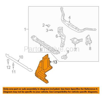 Aftermarket Replacement - ESS-1222 09-11 Chevy Aveo/Aveo5 Engine Splash Shield Under Cover Guard GM1228121 95028580 - Image 3