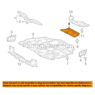 Aftermarket Replacement - ESS-1628 2010-2012 Lexus HS250h & 2011-2013 Scion tC, 2008-2015 Scion xB & 2010-2015 Toyota Prius & 2012-2017 Prius V Rear Engine Splash Shield - Image 3