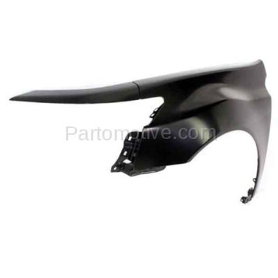 Aftermarket Replacement - FDR-1762L 2009-2014 Acura TL (Base & SH-AWD) 3.5L & 3.7L (USA Built Models) Front Fender Quarter Panel Primed Steel Left Driver Side - Image 2