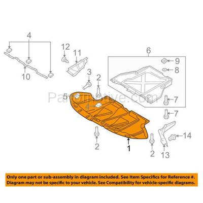 Aftermarket Replacement - ESS-1025 07-11 S6 Engine Splash Shield Under Cover Front Undercar AU1228110 4F0863821H - Image 3