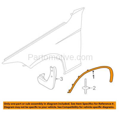 Aftermarket Replacement - FDF-1007R 12-15 X1 Front Fender Flare Wheel Opening Molding Trim Arch Right Passenger Side - Image 3