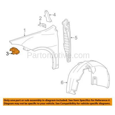 Aftermarket Replacement - FDS-1009R 13-16 Dart Front Fender Brace Support Reinforcement Bracket Right Passenger Side - Image 3