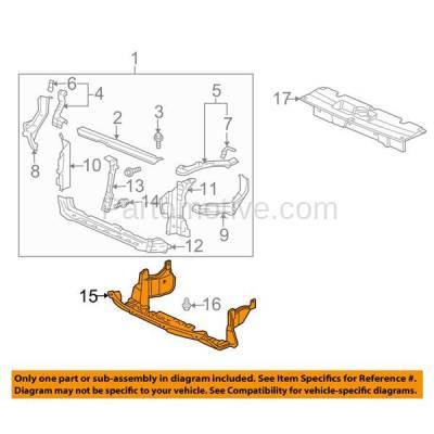 Aftermarket Replacement - ESS-1262 03-08 Element Front Lower Engine Splash Shield Under Cover HO1228102 74111SCVA50 - Image 3