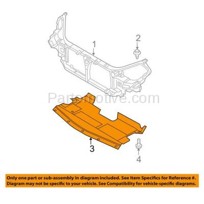 Aftermarket Replacement - ESS-1523 Front Engine Splash Shield Under Cover For 02-06 Altima, 04-08 Maxima 758907Y000 - Image 3