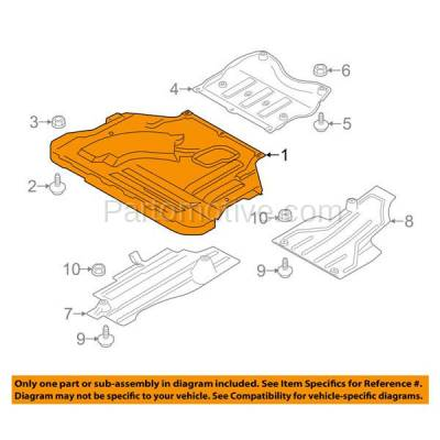 Aftermarket Replacement - ESS-1134 2013-2019 Ford Escape & Lincoln MKC (1.5 & 1.6 & 2.0 & 2.3 & 2.5 Liter Engine) Front Engine Under Cover Splash Shield Undercar Guard Plastic - Image 3