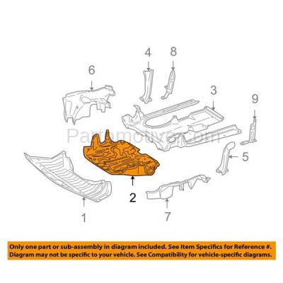 Aftermarket Replacement - ESS-1444 07-14 S-Class Engine Splash Shield Under Cover Center Guard MB1228151 2215244130 - Image 3