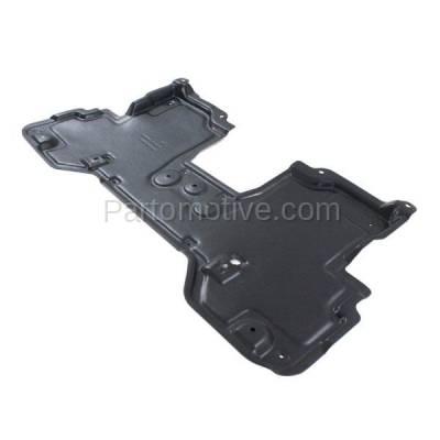 Aftermarket Replacement - ESS-1324 2011-2013 Infiniti M35h/M37/M56 & 2014-2018 Q50/Q60/Q70/Q70L (RWD) Front Engine Under Cover Splash Shield Undercar Guard Plastic - Image 2