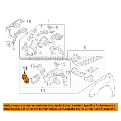 Aftermarket Replacement - RSP-1276R 2010-2016 Buick LaCrosse & 2011-2017 Regal & 2013-2018 Cadillac XTS & 2014-2019 Chevy Impala Radiator Support Bracket Passenger Side - Image 3